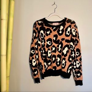 Philosophy Animal Print Crew Neck